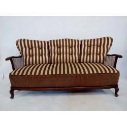 Sofa drewniano-rattanowa....