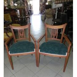 Krzesło secesyjne z lirą,...