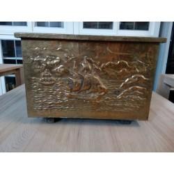 XIXw. drewniana szkatułka w...