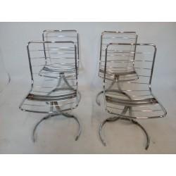 Metalowe fotele z lat 60.