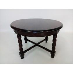 Okrągły, dębowy stolik...