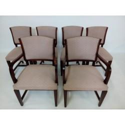 Komplet krzeseł art deco...