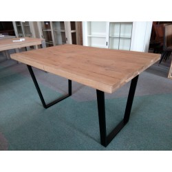 Industrialny stół dębowy,...