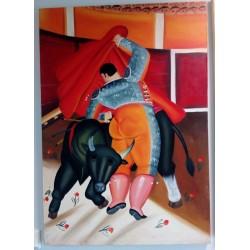 Olej na płótnie wg F. Botero