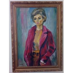 Olej na płótnie, portret