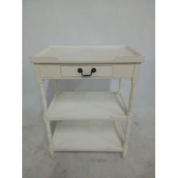 Biała szafeczka z szufladą