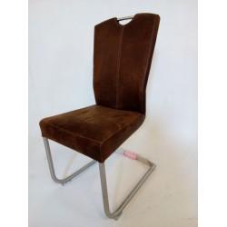 Krzesło na płozie brązowe H&H