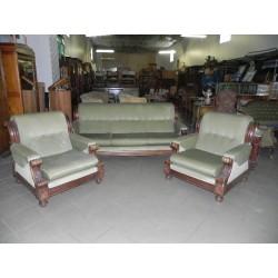 Eklektyczny komplet sofa i...
