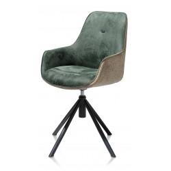 Fotel obrotowy Jill zielony