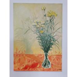 Olej na płótnie, kwiaty,...