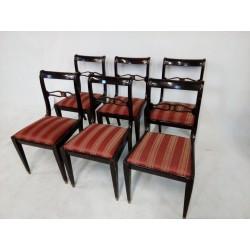 Piękne krzesła Biedermeier.