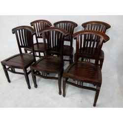 6 krzeseł mahoniowych w...