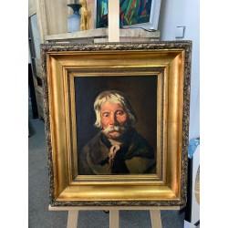Portret olej na desce Jerzy...