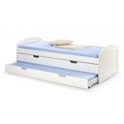 Łóżko Laguna2 dwuosobowe białe