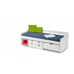 Łóżko FLORO 2 białe z...