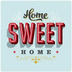 Obraz Home Sweet Home 90x90...