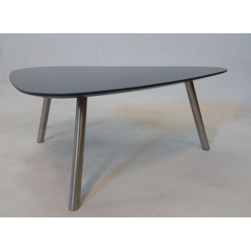 Ogromny Nowy stolik kawowy / ława typu nerka, szary. Design, loft, industrial FQ89